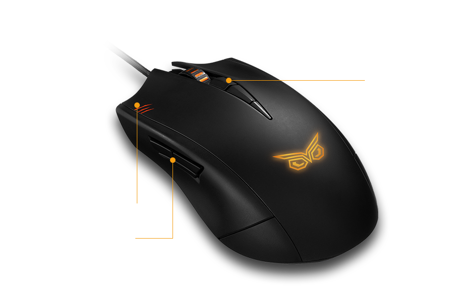 ASUS GAMING MOUSE STRIX CLAW DARK