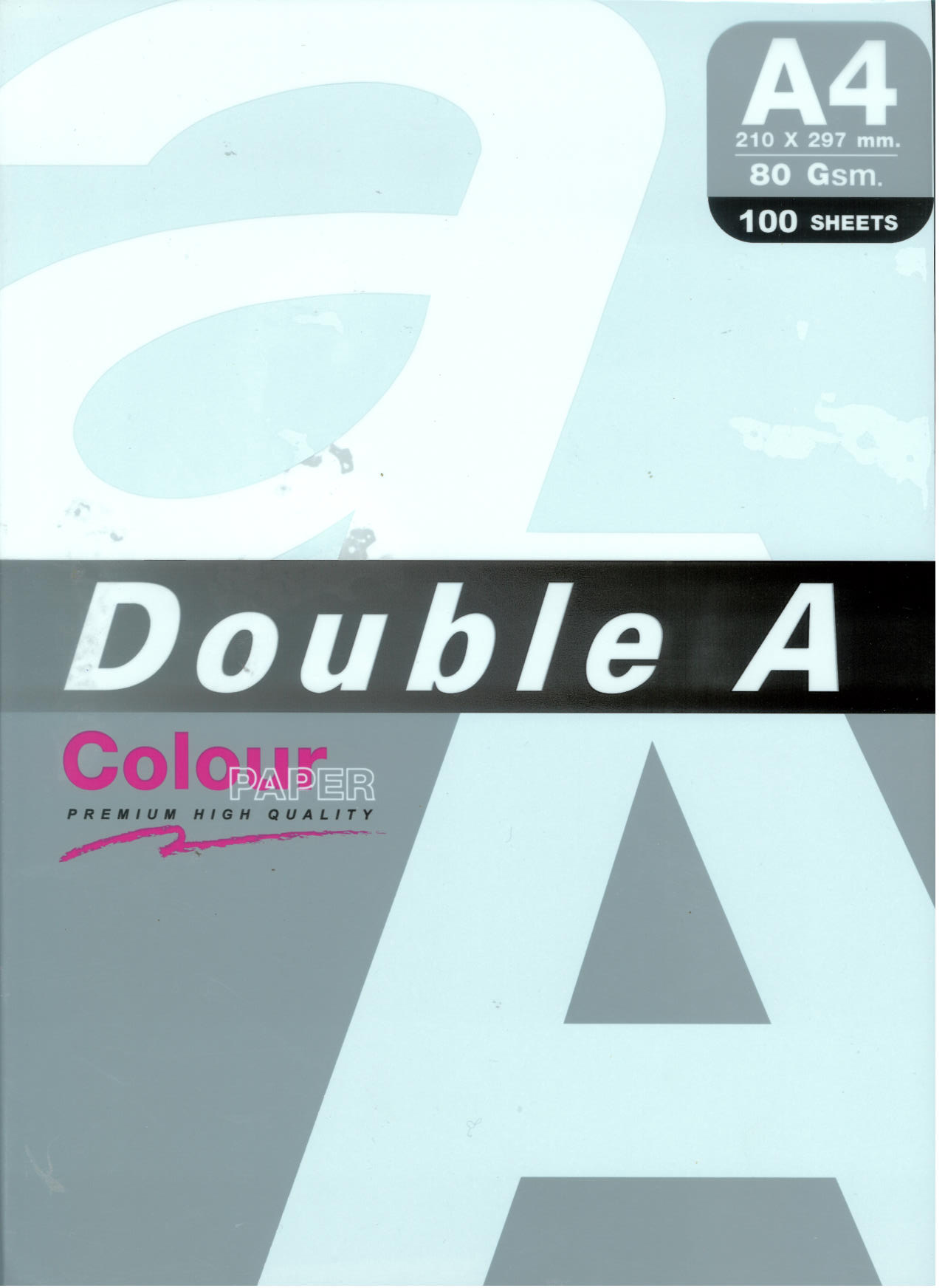 DOUBLE A COLOR A4 100SHEET 80GR MIXED