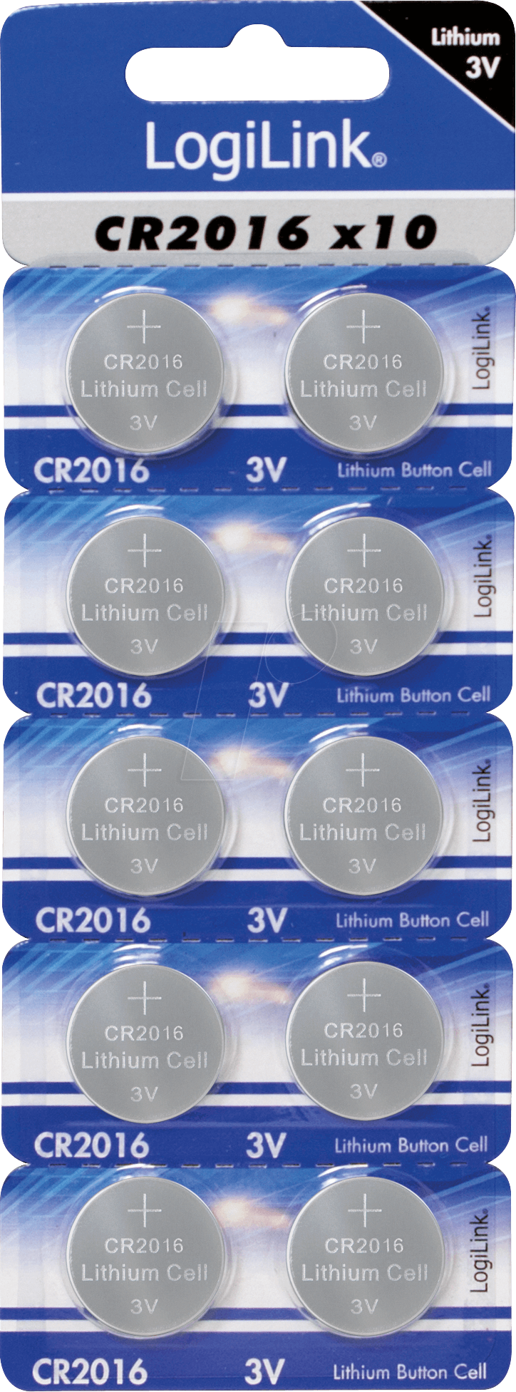 LOGILINK CR2016 LITHIUM BUTTON CELL 2PCK