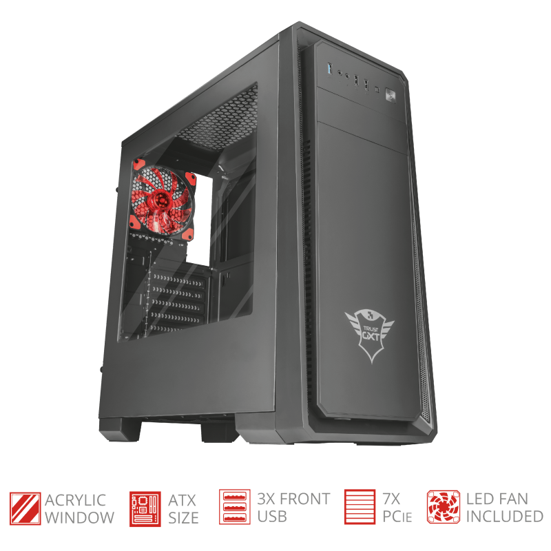 TRUST GAMING GXT1110 PC CASE ATX 22560