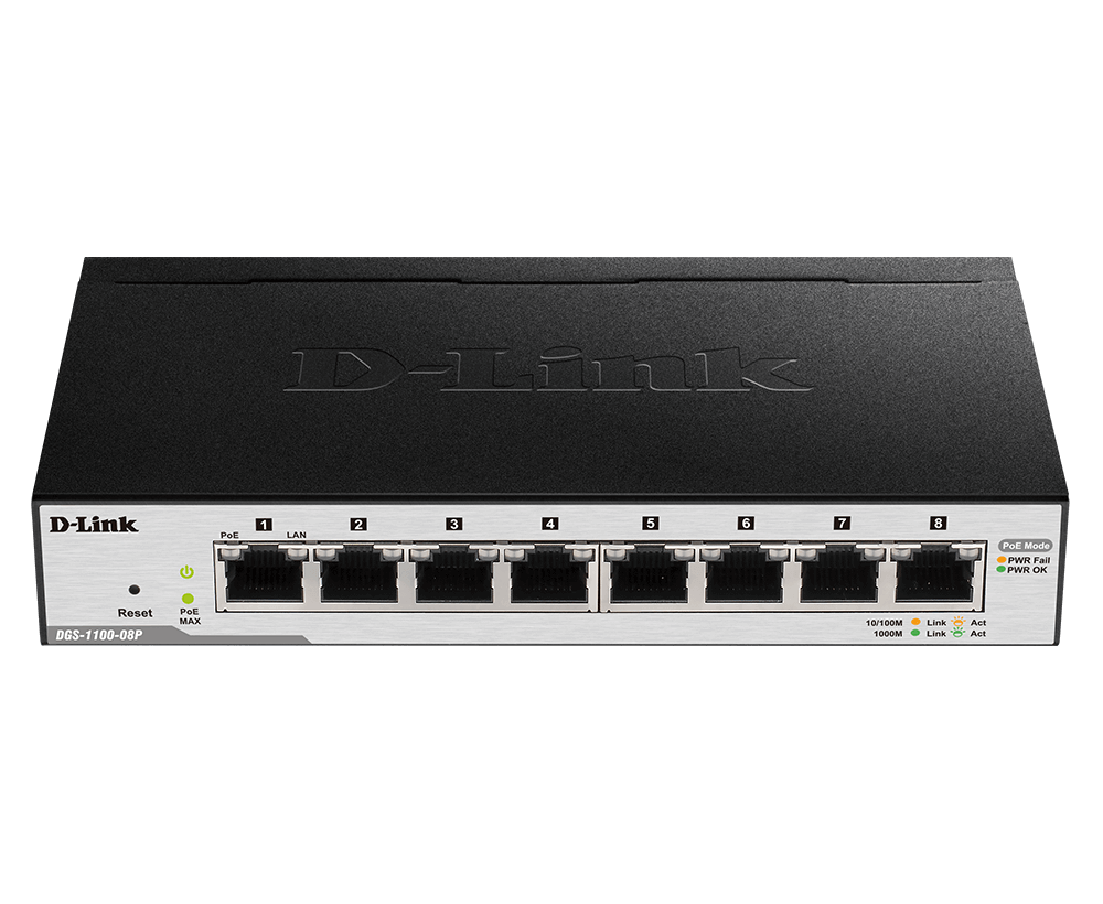 DLINK DGS-1100-08P SWITCH 8PORT PoE GIGA