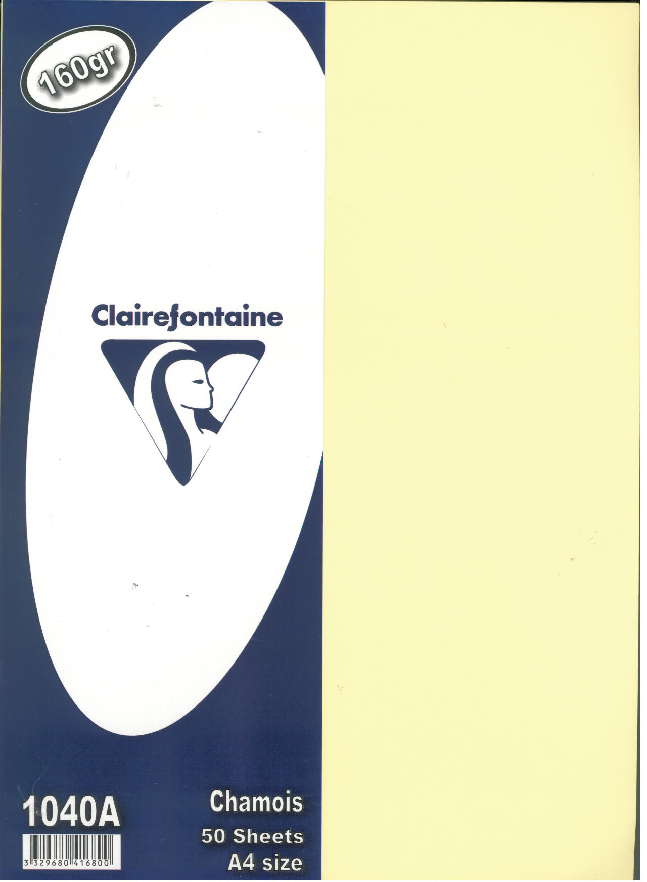 PAP. CLAIREFONT. A4 CHAMOIS 160GR 50S