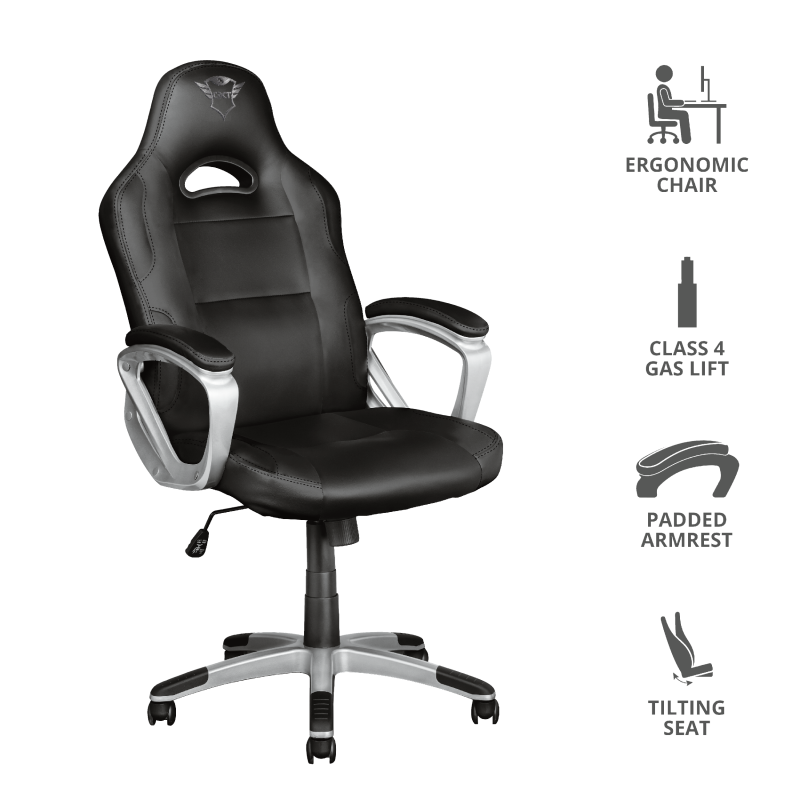 TRUST GXT705 RYON GAMING CHAIR 23288 BLK