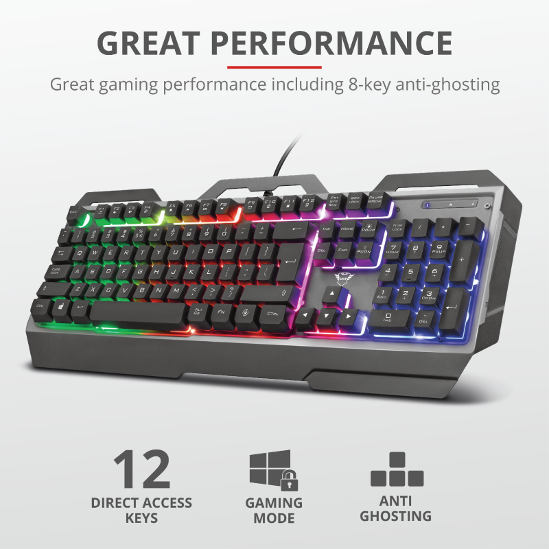 TRUST GXT856 TORAC GAMING KEYBOARD 23577