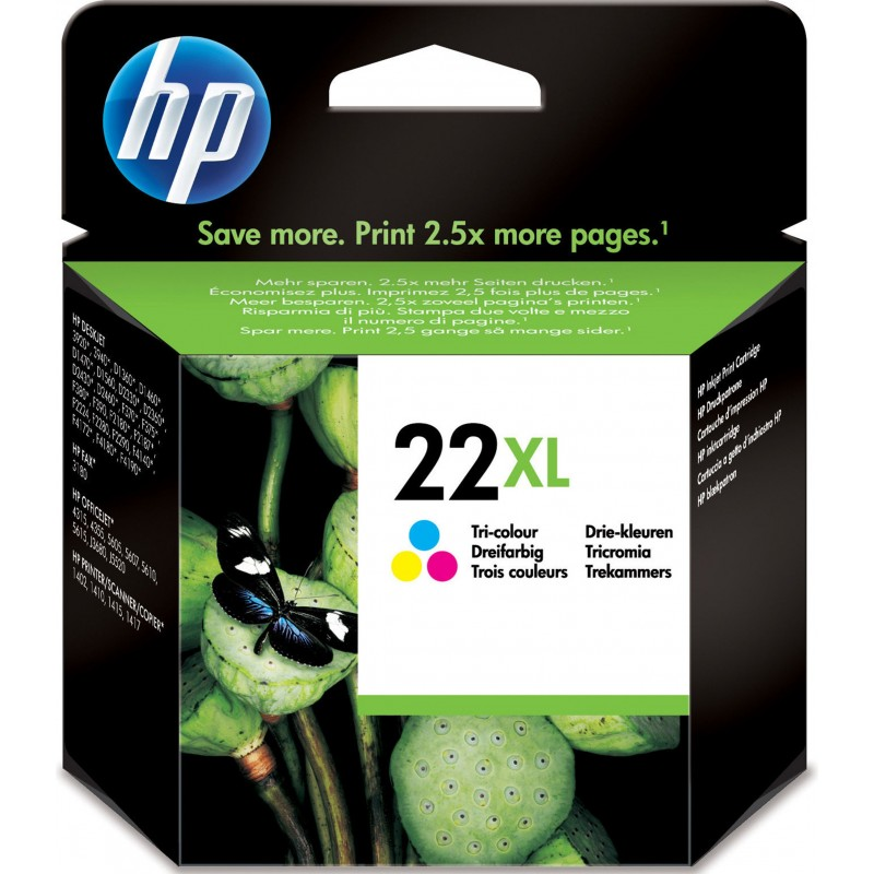 HP INK CARTRIDGE COLOR 22XL