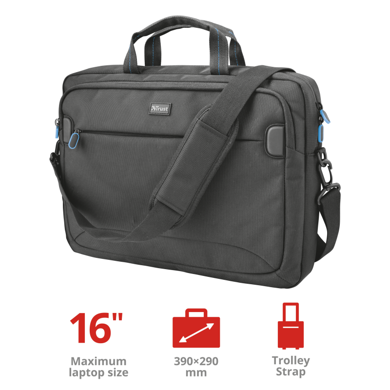 TRUST CASE 16' MARRA BAG BLACK 22705