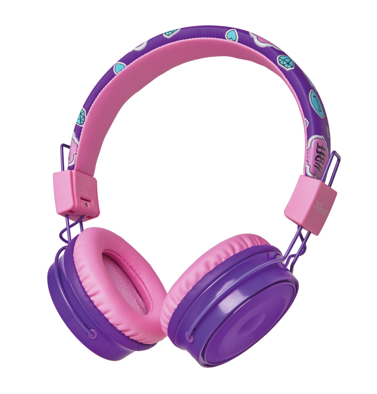 TRUST COMI KIDS BT HEADPHONES PRPL 23608