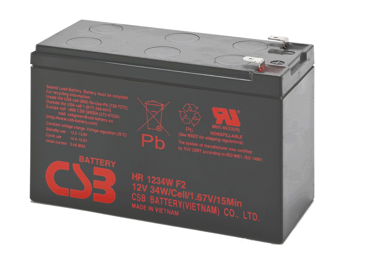 CSB BATTERY HR1234F2 HIGH RATE 12V / 9AH