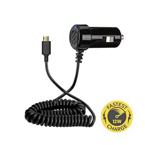 SCOSCHE 12W CAR CHARGER WITH CABLE