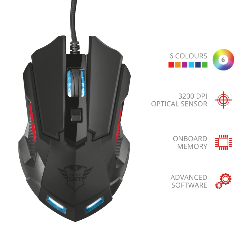 TRUST GXT 148 ORNA OPTICAL GAMING MOUSE
