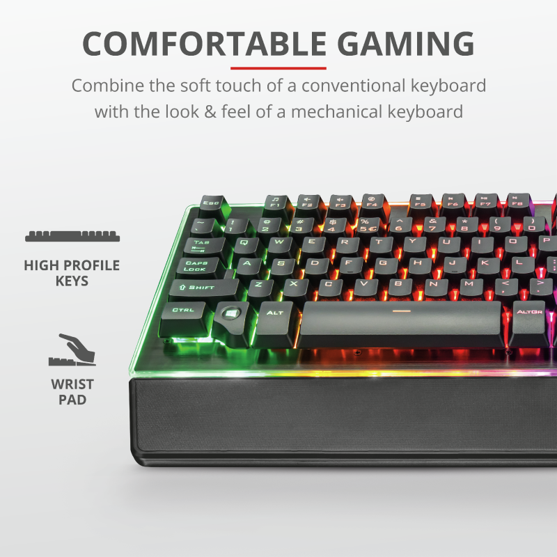 TRUST GXT860 THURA GAMING KEYBOARD