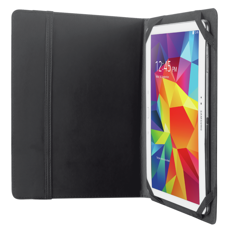 "TRUST FOLIO TABLET CASE 10"" BLACK"