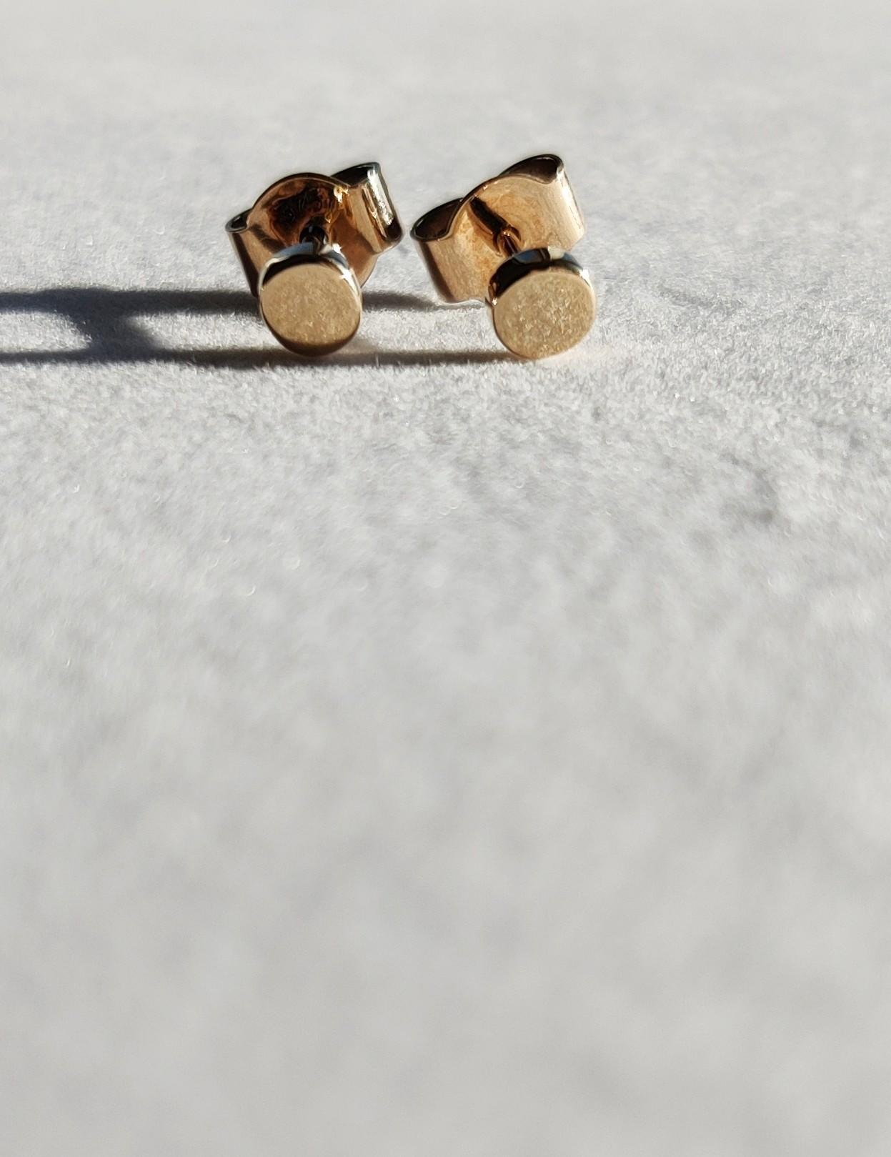Gold Dot Stud Earrings The Diamond Setter