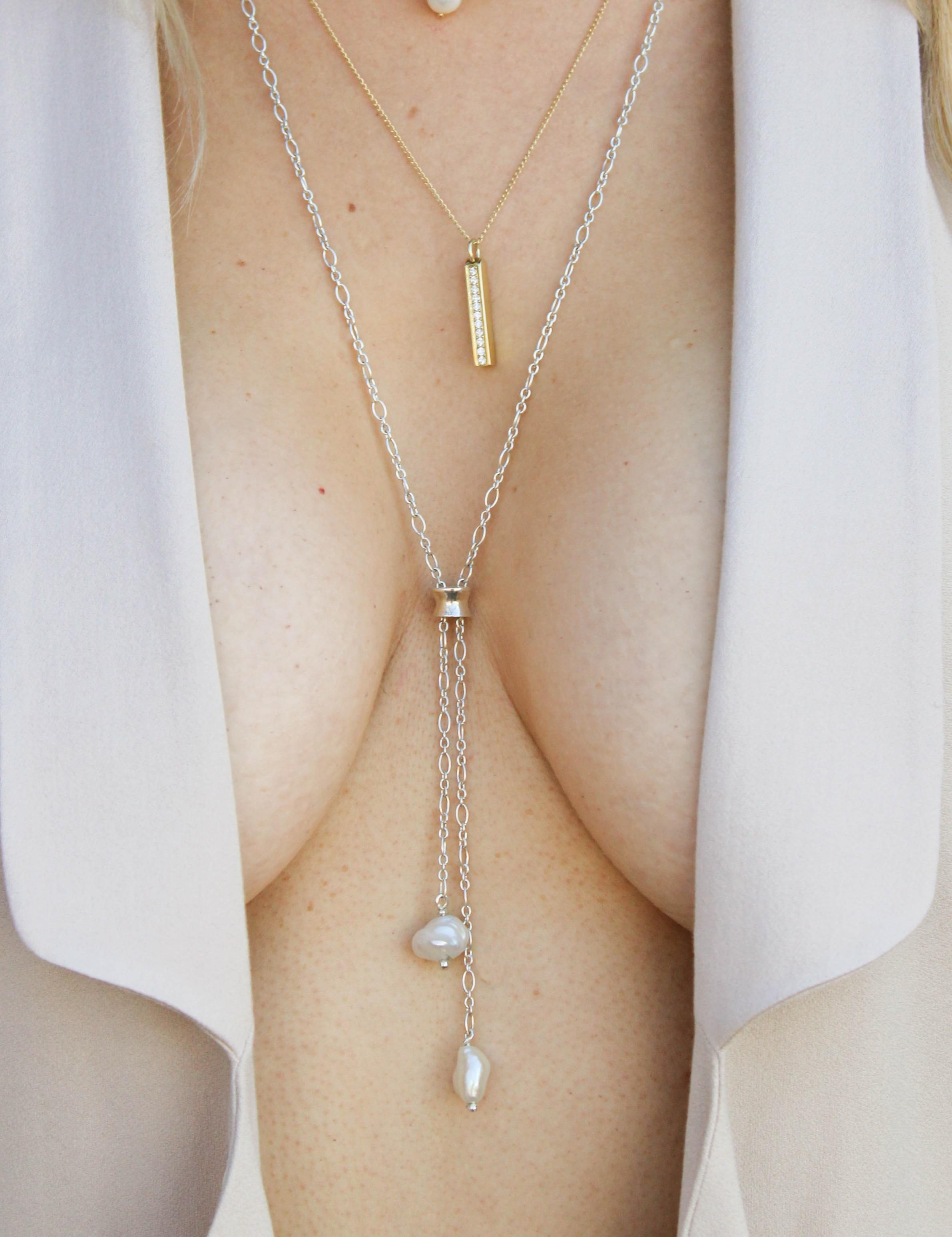 Sexy Baroque pearl necklace The Diamond Setter