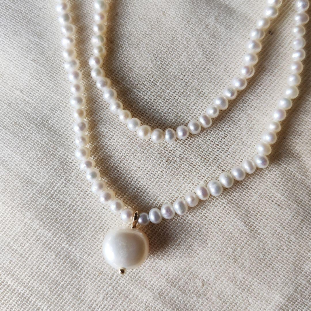 Double Pearl Choker Necklace The Diamond Setter
