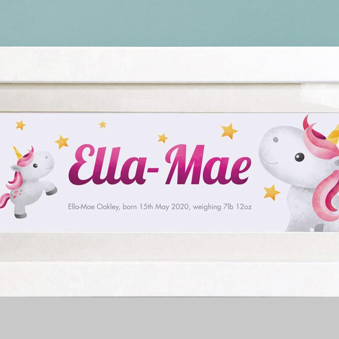 unicorn personalised gifts for girls