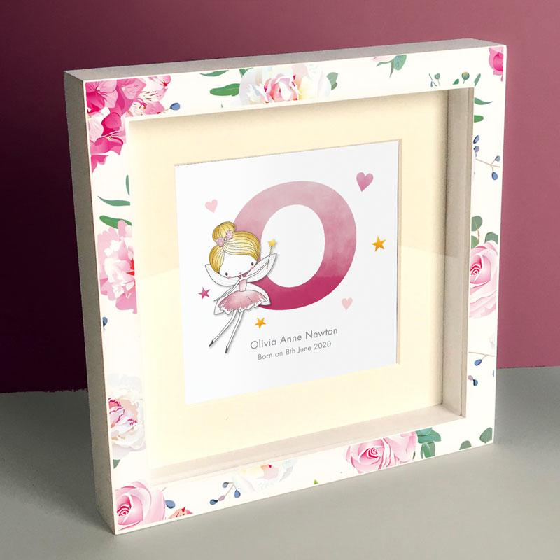 Frame My Name, box frame prints for girls