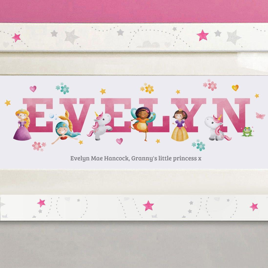 personalised fairytale name print