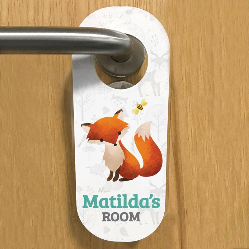 children's door hangers, frame my name