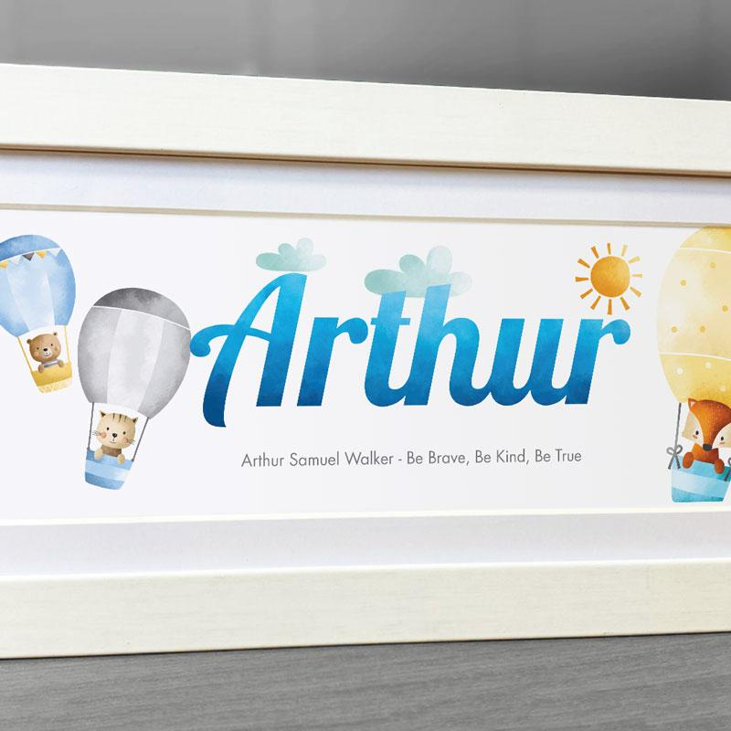 Frame My Name, Hot Air Balloon nursery decor