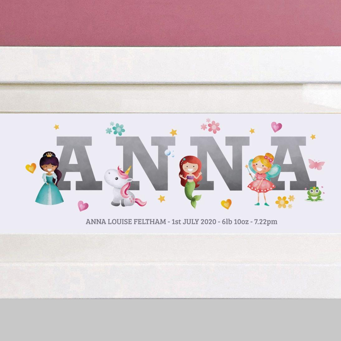 personalised princess print