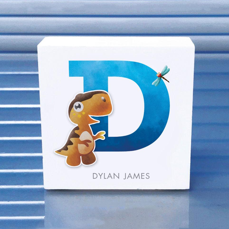 Childrens wooden name blocks