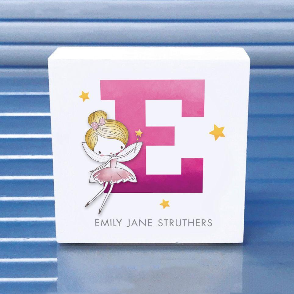 wooden fairy block, wooden name gifts