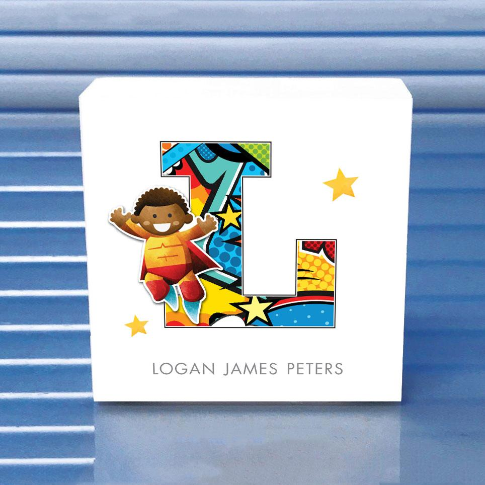 superhero wooden block, superhero gifts