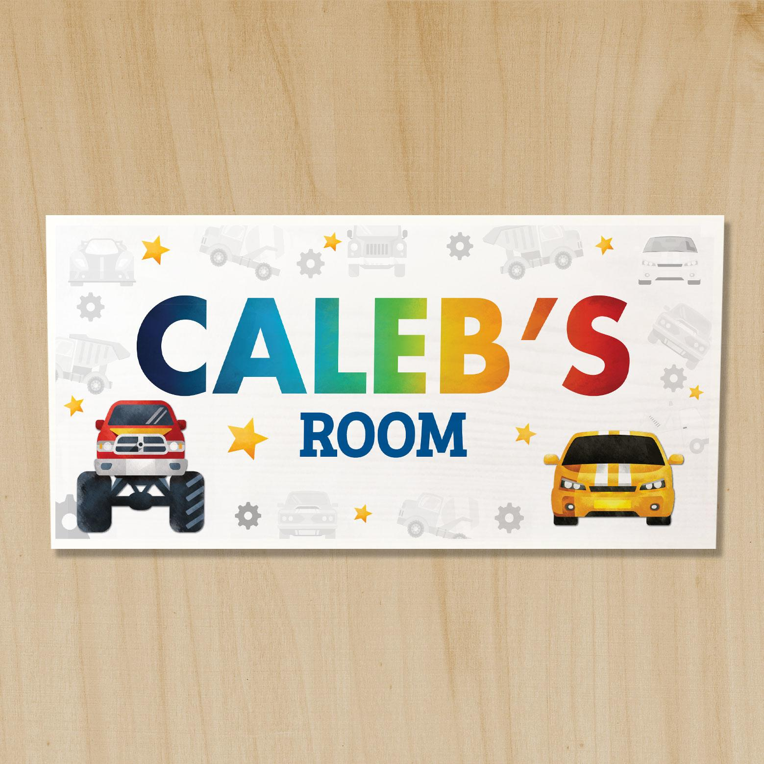 cars door sign, door signs for boys