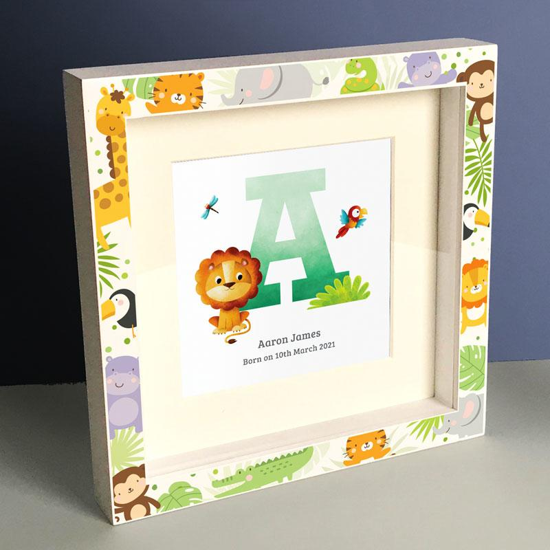 Frame My Name, initial letter prints, box frame prints,