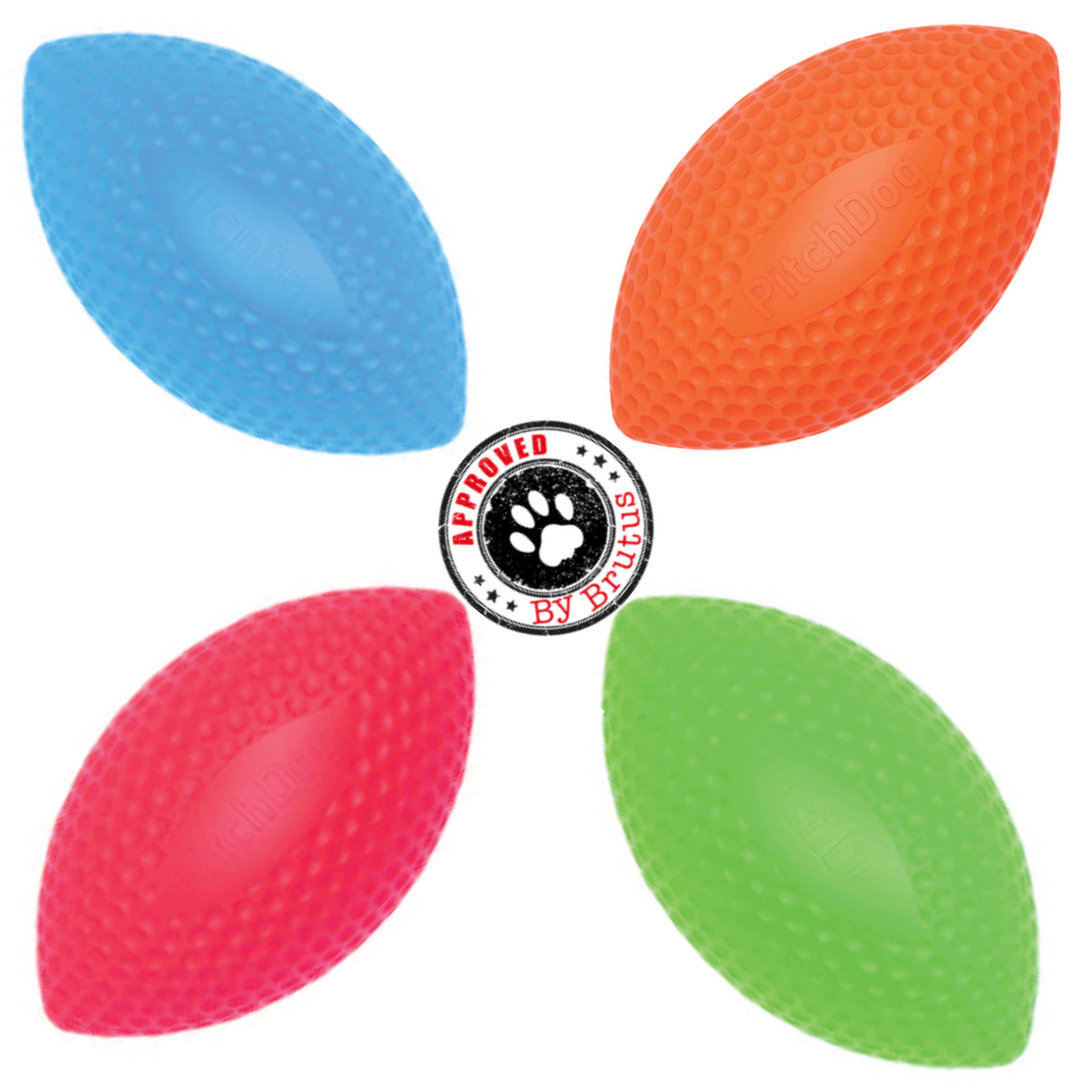 PitchDog SportBall Dog Toy by Collar Company - available in orange, pink, blue, and green.  One size.