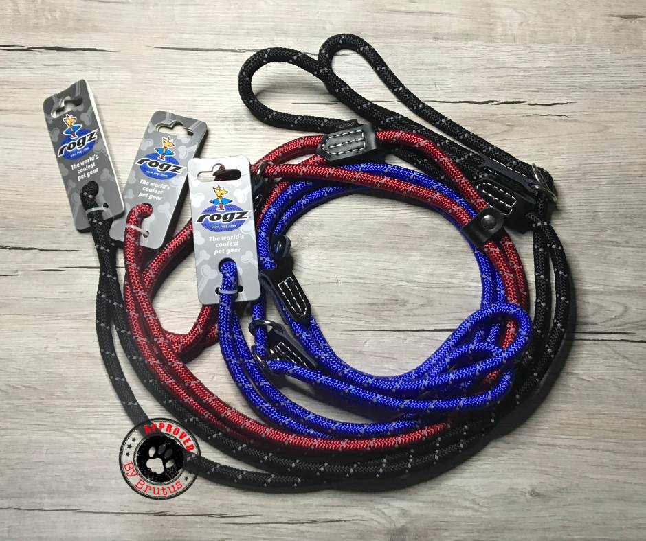 Rogz adjustable slip leads - all colours - red, black, blue