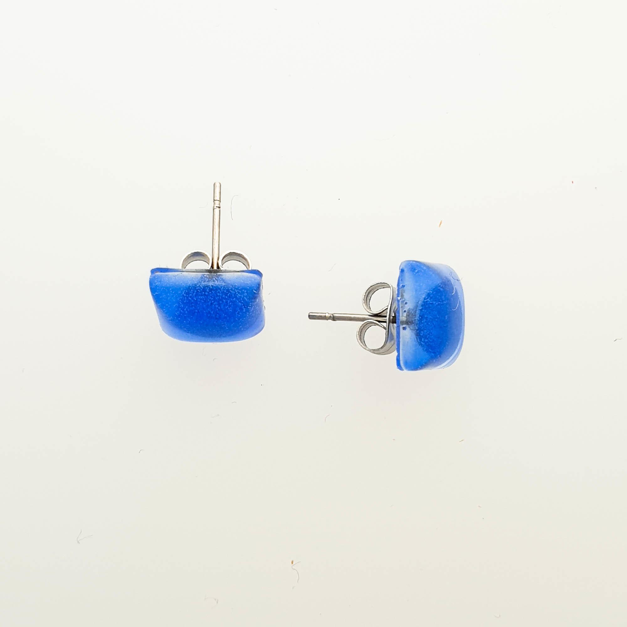 Blue Square Pillow Studs