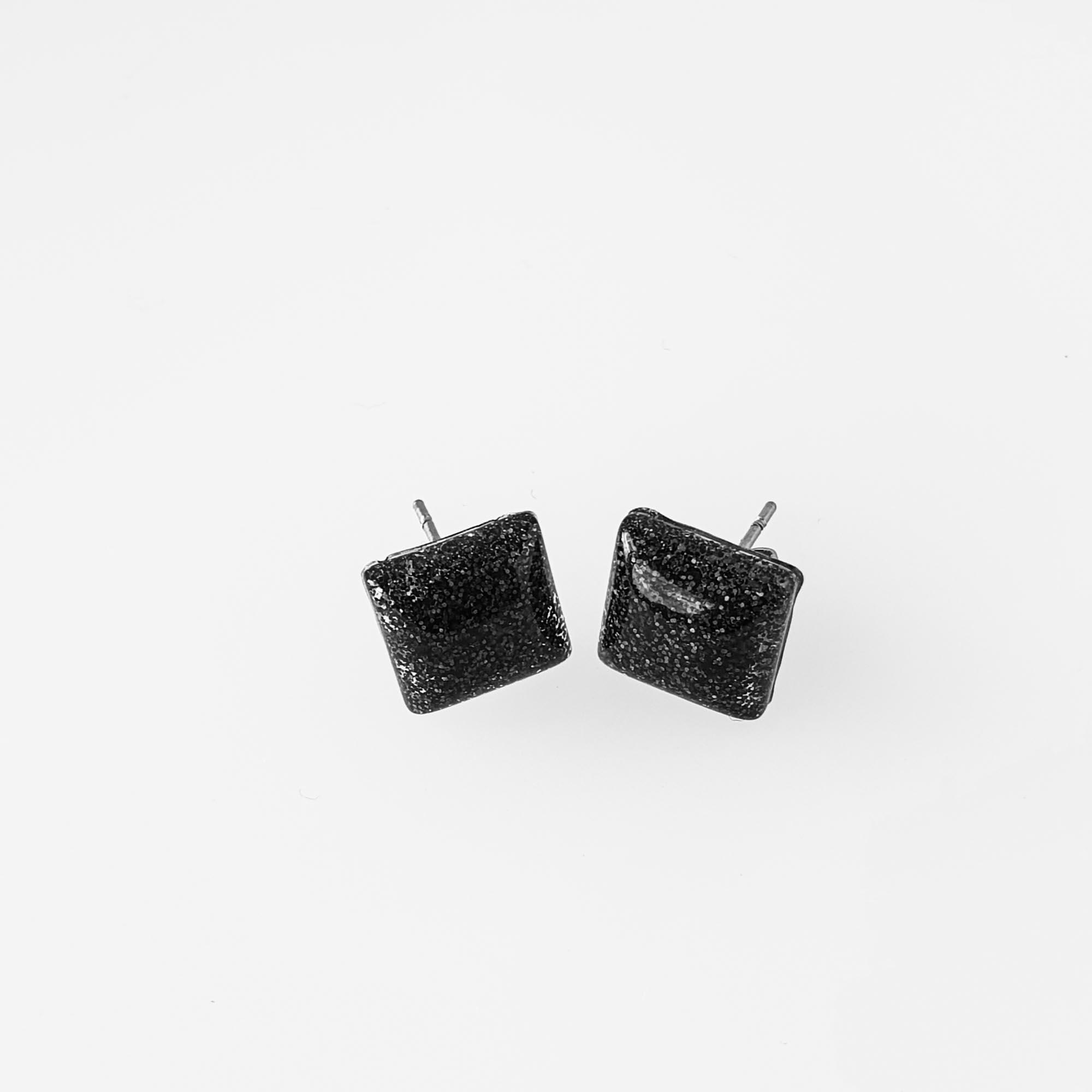 Black Square Pillow Studs