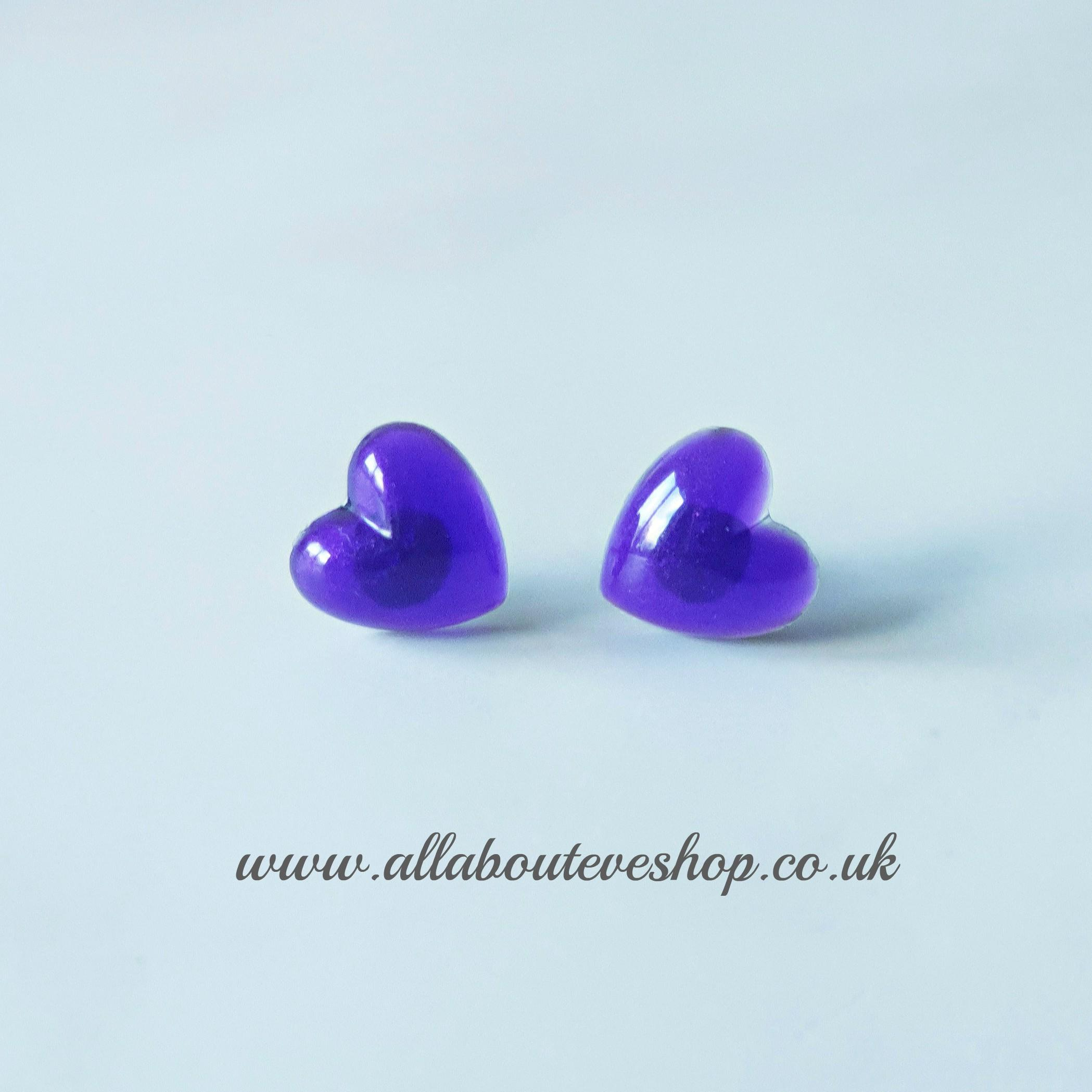 Purple heart studs