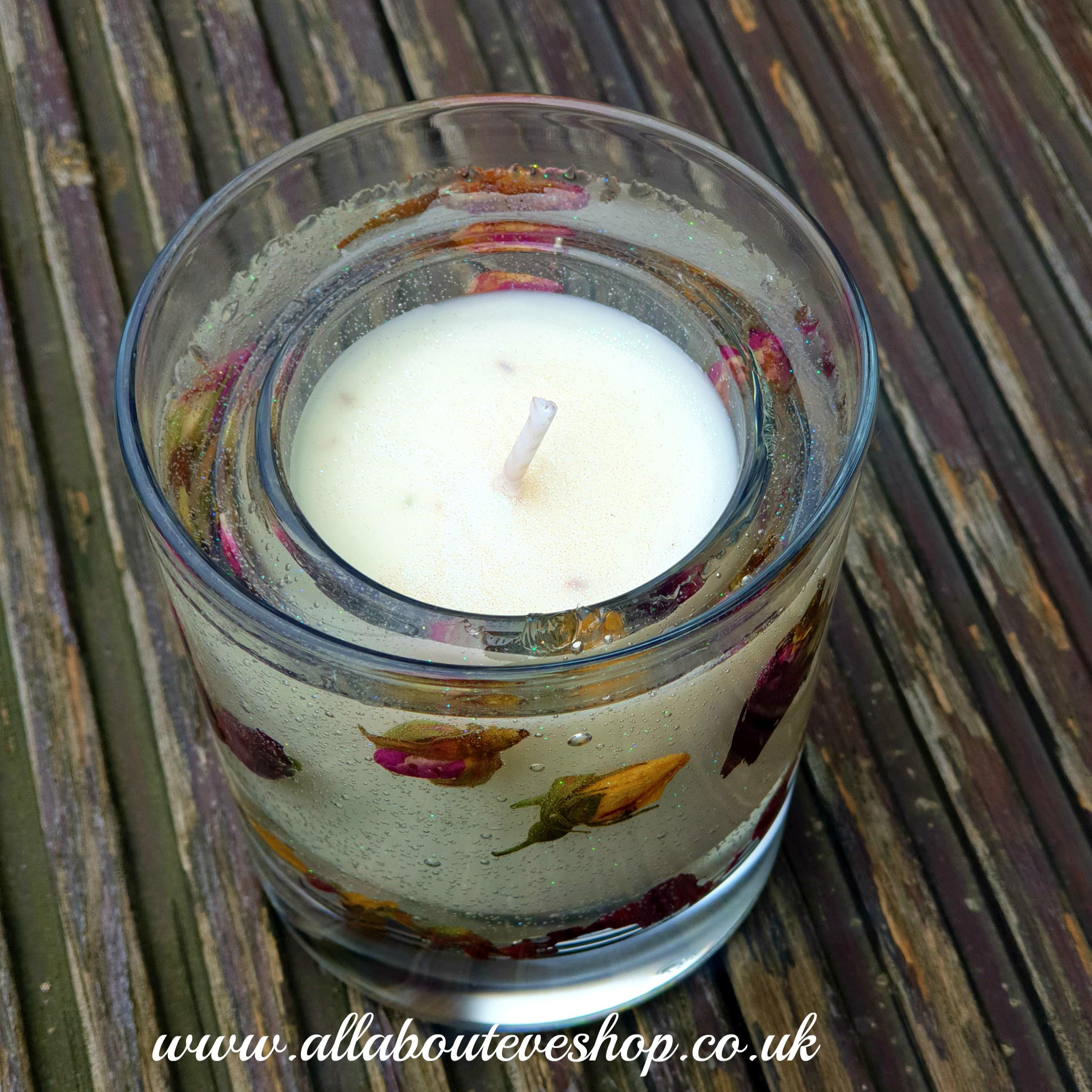 Rosebud Botanical Gel Votive Candle