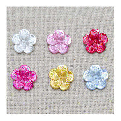 Flower & Pearl Buttons