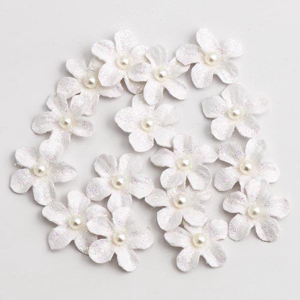 Glitter Paper Flowers Small