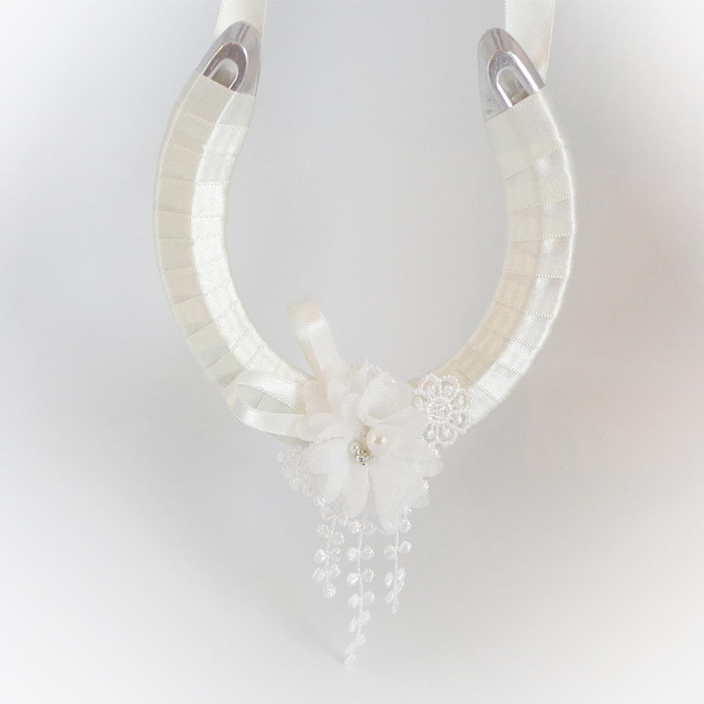 Ivory wedding horseshoe