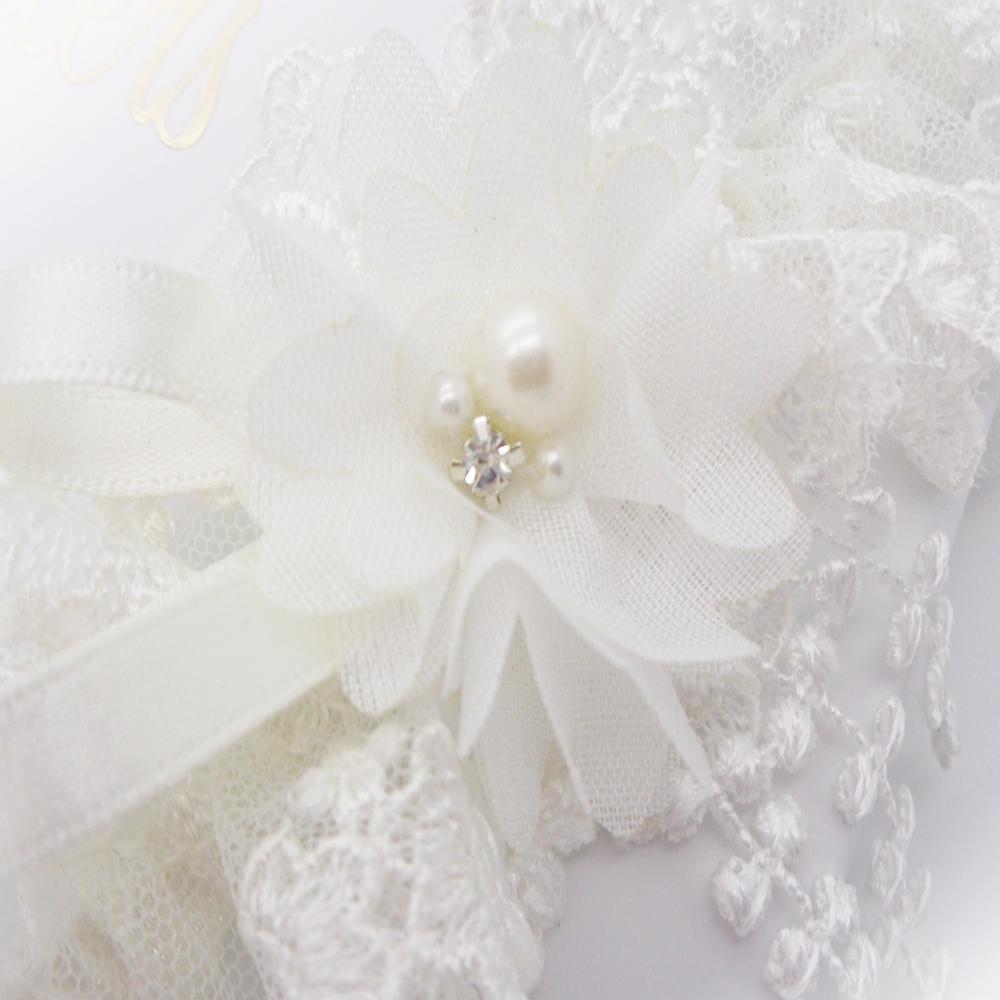 Long Wedding Garters: Sophia Ivory Wedding Garter In Delicate Tulle Lace And Chiffon