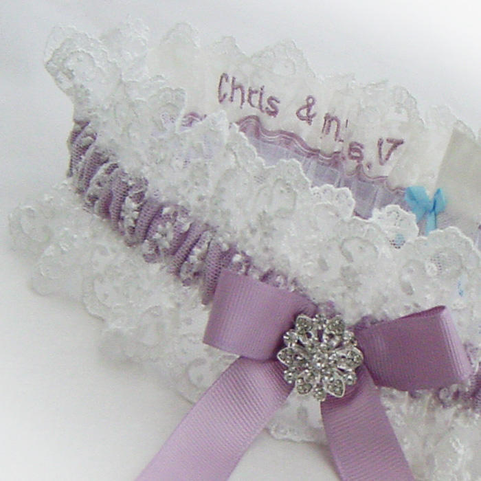 Brides Favorite Personalised Wedding Garters