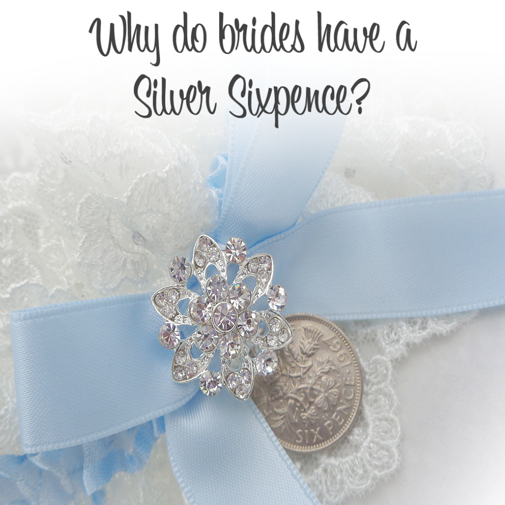 Why do brides have a Lucky sixpence wedding garter