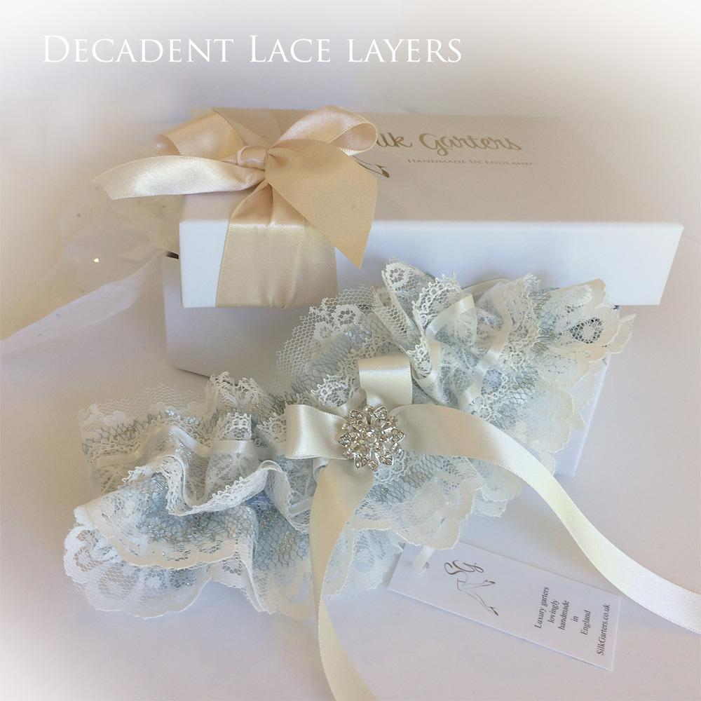 wedding garter Decadent lace layers bride gift