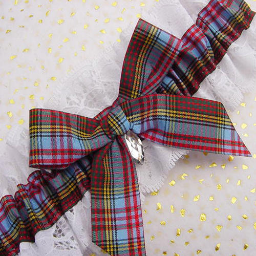 5 Scottish Tartan Wedding Garters