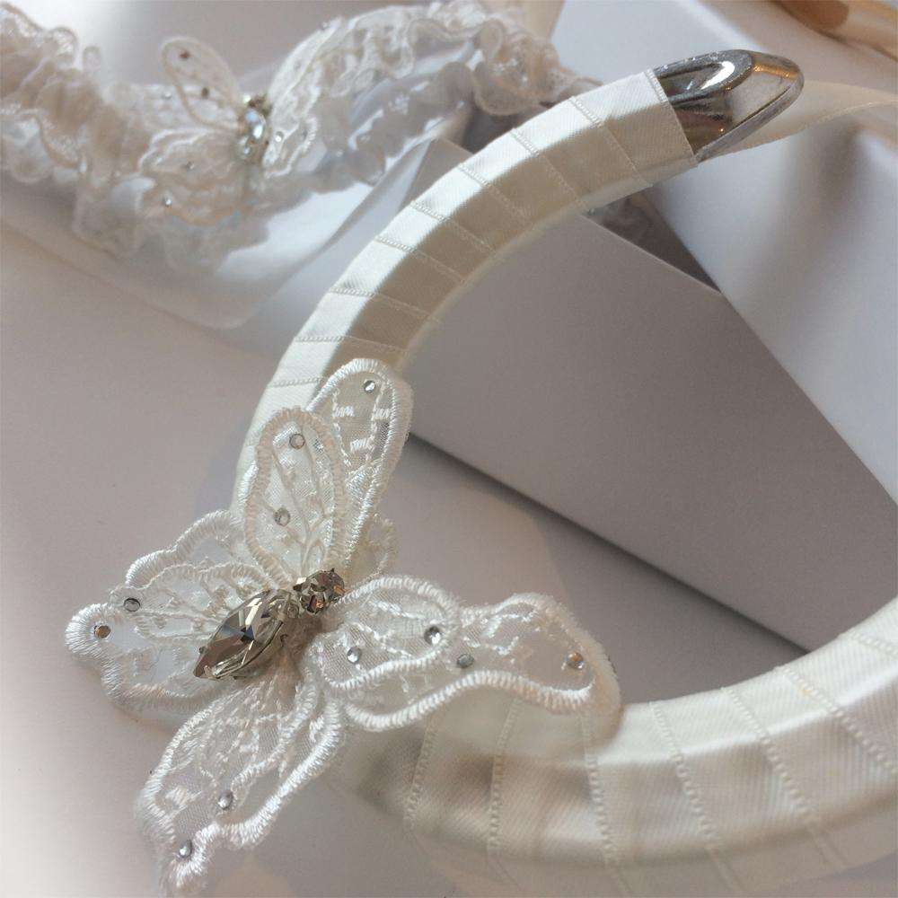 Butterfly Kisses lucky wedding horseshoe