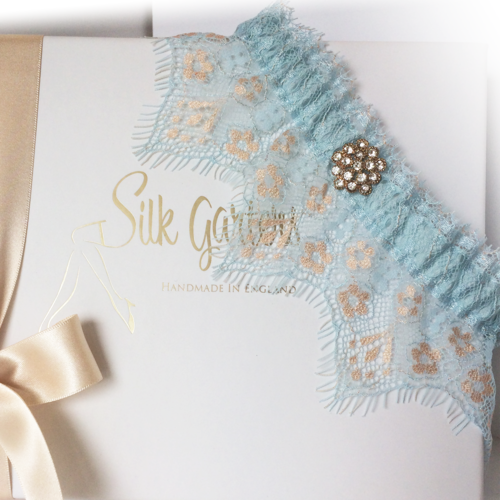 Something blue wedding garter Etta