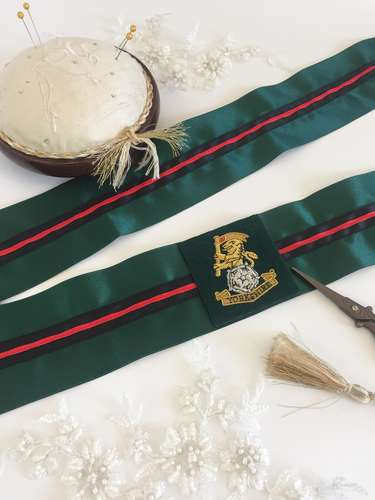 Yorkshire Regiment wedding garter