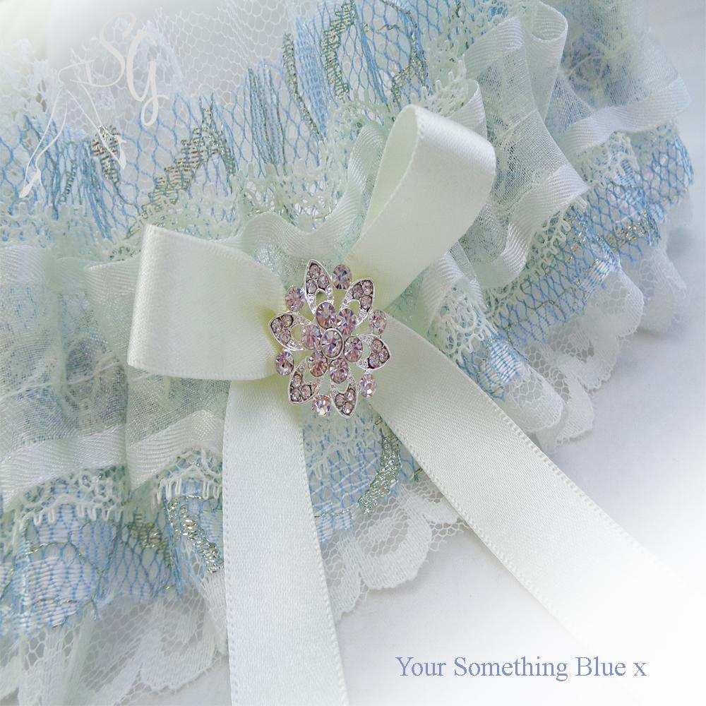 wedding garter extravagant lace layers