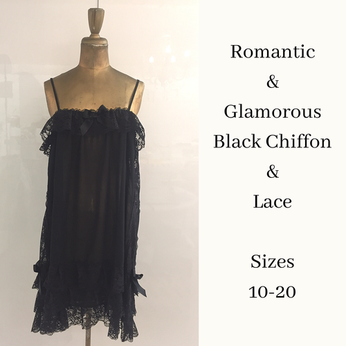 Sheer black baby doll nightgown