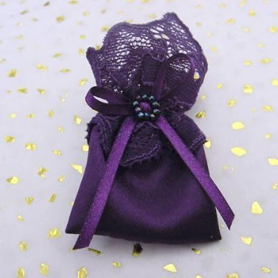 Lucky sixpence bag purple